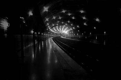 Fuselier Photograph - French Train Stop by Cecil Fuselier