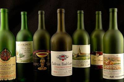 Photograph - French Wine Labels by David Campione