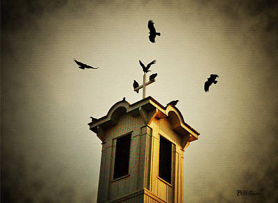 Vulture Digital Art - Frenchtown Steeple by Bill Cannon