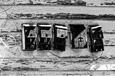 Freret Street Mailboxes - Black And White -nola Art Print by Kathleen K Parker