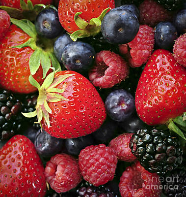 Raspberry Photograph - Fresh Berries by Elena Elisseeva