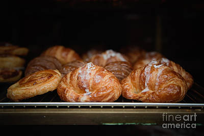 Fresh Croissants Paris Art Print by Ei Katsumata