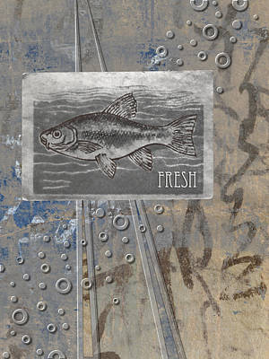 Collage Photograph - Fresh Fish by Carol Leigh