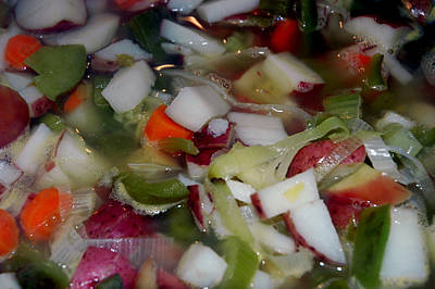 Celery Photograph - Fresh Hot Veggie Soup by LeeAnn McLaneGoetz McLaneGoetzStudioLLCcom