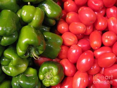 Photograph - Fresh Market Series. Green And Red. by Ausra Huntington nee Paulauskaite