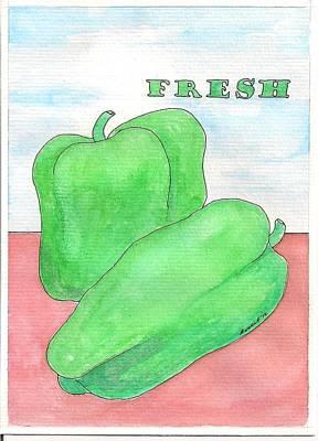 Farm Stand Drawing - Fresh by Melanie Rochat