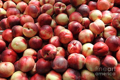 Fresh Nectarines - 5d17813 Art Print by Wingsdomain Art and Photography