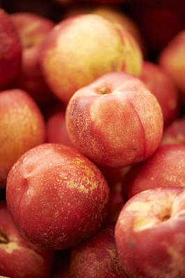 Y120907 Photograph - Fresh Nectarines by Cameron Davidson