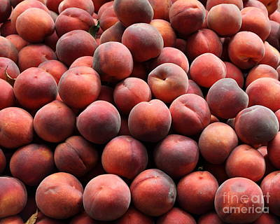 Fresh Peaches - 5d17816 Art Print by Wingsdomain Art and Photography