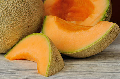 Cantaloupe Photograph - Fresh Ripe Delicious Cantaloupes by Dick Wood