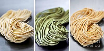 Spinach Photograph - Fresh Tagliolini Pasta by Elena Elisseeva