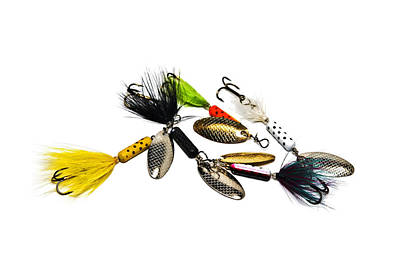 Art Print featuring the photograph Freshwater Fishing Lures by Susan Leggett