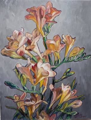 Flower Painting - Fresia by Irek Szelag