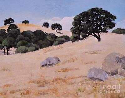 Fresno Foothills Art Print