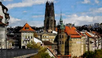 Fribourg Switzerland Art Print
