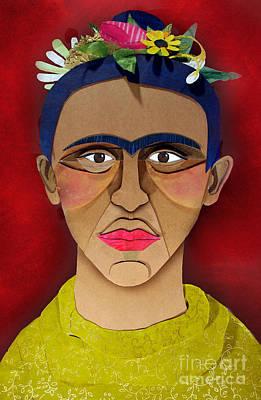 Surrealist Painter Mixed Media - Frida by Anna Chandler
