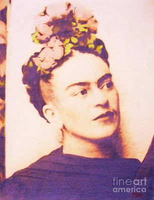 Avant Garde Mixed Media - Frida In Sepia by Roberto Prusso