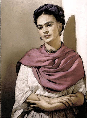 Frida Interpreted 2 Art Print by Lenore Senior