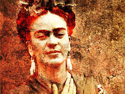 Frida Kahlo Print by Jose Espinoza