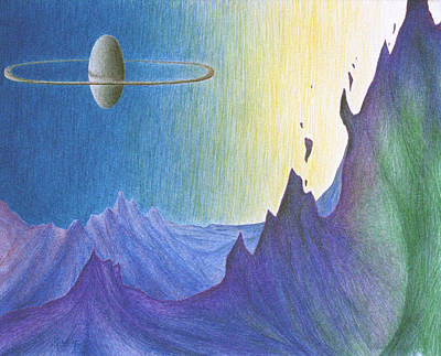 Science Fiction Drawing - Friday Dimension Eleven by Michael Morgan