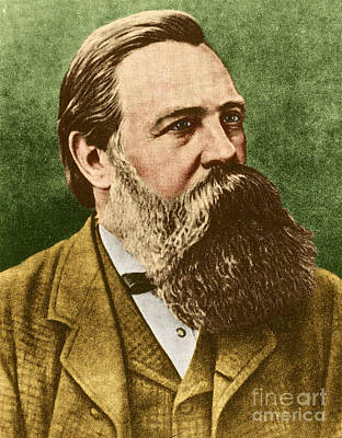 Friedrich Engels, Father Of Communism Art Print by Photo Researchers