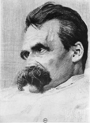 Will Power Photograph - Friedrich Wilhelm Nietzsche, German by Photo Researchers