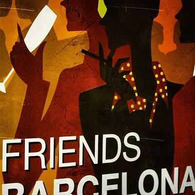 Retro Wall Art - Photograph - Friends - Barcelona by Joel Lopez
