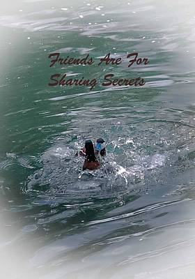 Friends Are For Sharing Secrets Art Print by DigiArt Diaries by Vicky B Fuller