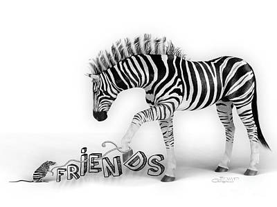 Digital Art - Friends by Jutta Maria Pusl