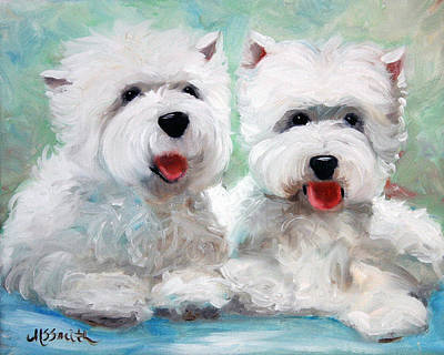 West Highland Painting - Friends by Mary Sparrow