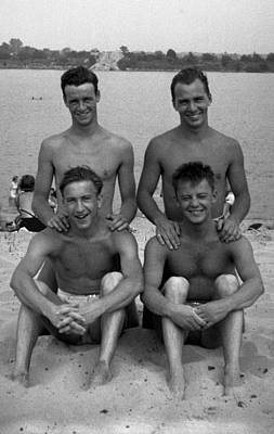 Gay Interest Photograph - Friends On The Beach by Rob Gates