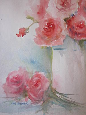 Painting - Friendship Roses by Sandra Strohschein