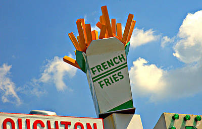 Fries In The Sky Art Print by Bruce Carpenter