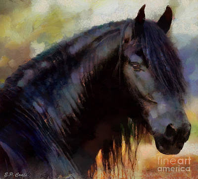 Painting - Friesian by Elizabeth Coats