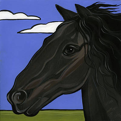 Painting - Friesian by Leanne Wilkes
