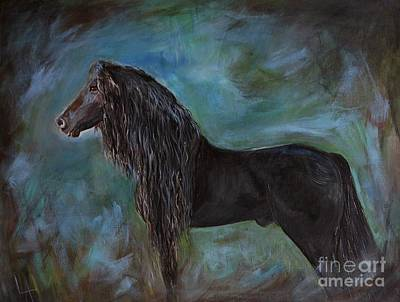 Painting - Friesian Pride by Leslie Allen