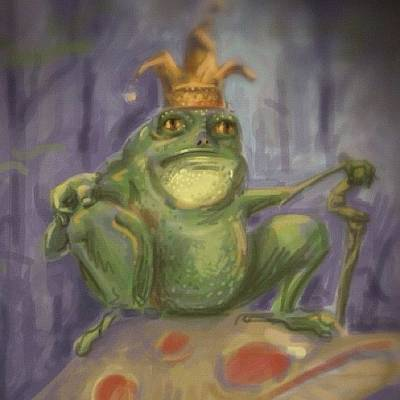 Brush Wall Art - Photograph - #frog #prince #sketch by Jeff Reinhardt