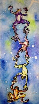 Frog Totemtoad'em Art Print by Gloria Avner
