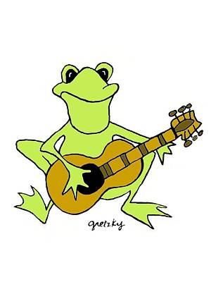 Gretzky Painting - Frog With Guitar by Paintings by Gretzky