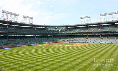 Friendly Confines Photograph - From Center by David Bearden