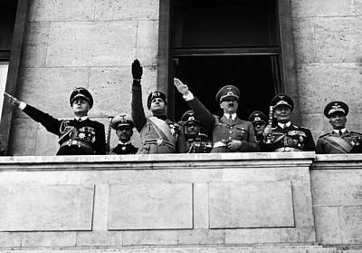 Goering Photograph - From Left, Foreign Minister Joachim Von by Everett