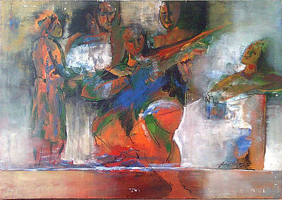 Painting - From The Epic by Jaffo Jaffer