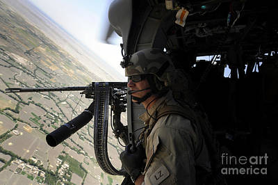 From The Side Of An Hh-60g Pave Hawk Art Print