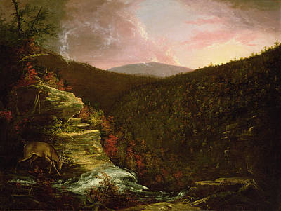 Wildlife Landscape Painting - From The Top Of Kaaterskill Falls by Thomas Cole