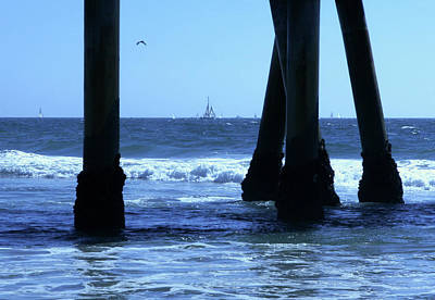 Photograph - From Under The Pier by Lorraine Devon Wilke
