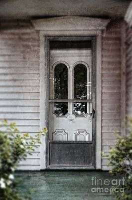 Front Door Of Vintage House Print by Jill Battaglia