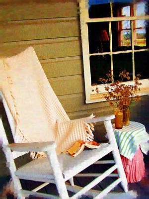 Front Porch Pleasures Art Print by Edie Kynard