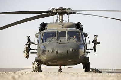 Front View Of A Uh-60l Black Hawk Art Print