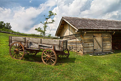 Wagon Photograph - Frontier by Betsy Knapp