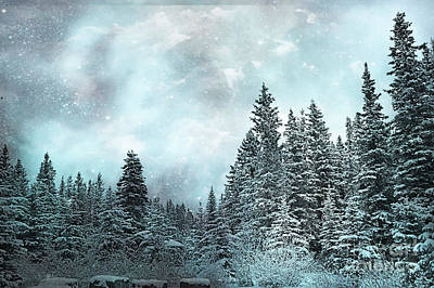 Frost Forest Blue Art Print